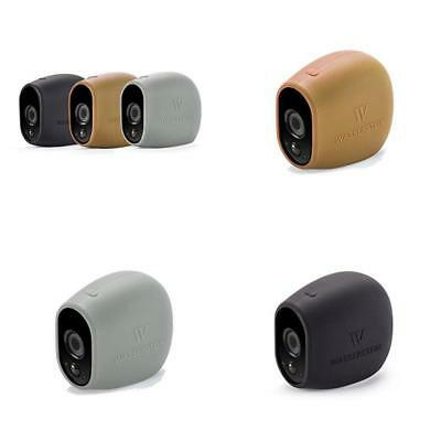 3x Silicone Skins for Arlo Smart Security 100/% Wire-Free Cameras 3 Pack Grey