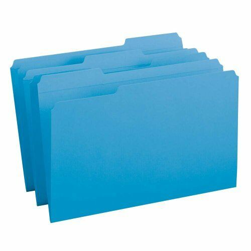 Smead 17034 bluee colord File Folders With Reinforced Tab - Legal - 8.50  X 14