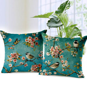 Oil-Painting-Bird-Cushion-Cover-Car-Decorative-Throw-Pillow-Case-Sofa-Home-Decor