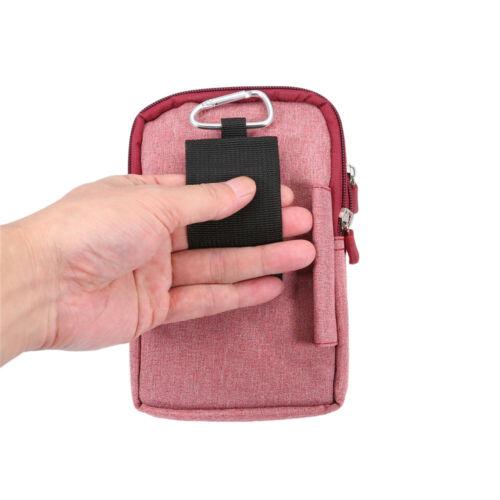 Mens Mobile Phone Bag Fanny Waist Belt Loop Retro Outdoor Small Bag Denim Fabric