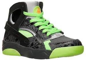 Nike Flight Huarache GS Grade School Dark Grey Black Green 705281-002