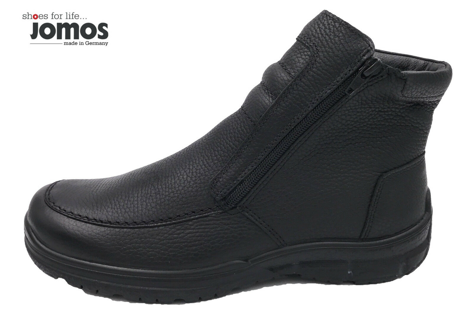 Jomos Herren Winter Stiefel Schwarz Leder Boots Lammwollfutter NEU 416501-33-000