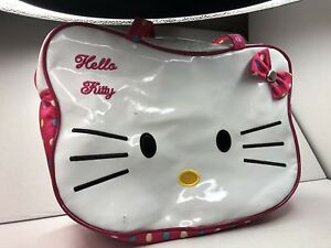 c1a1795db7 HELLO KITTY Girls Purse Lunch Bag School Supplies Tote Pens Pencils ...