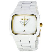 A140 1035 NIXON PLAYER ALL WHITE/GOLDBRAND