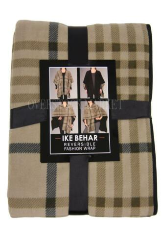 VARIETY OF COLORS! WOMEN/'S IKE BEHAR REVERSIBLE FASHION WRAP SHAWL NEW
