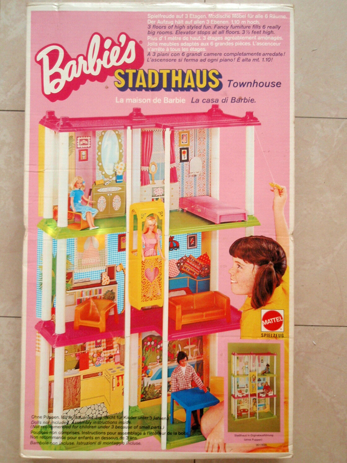 Barbie Cityhaus OVP Mattel Dollnhaus Dollhouse Vintage Original von 1975