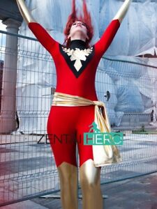 New Red X- Men Jean Grey Phoenix Superhero Costume Spandex Cosplay Catsuit