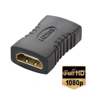 HDMI-Verbinder-Adapter-HDMI-Buchse-auf-Buchse-Kupplung-FullHD-vergoldet-1080P-3D