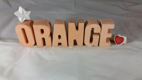Beton Steinguss Buchstaben 3D Deko Namen LEA als Geschenk verpackt!