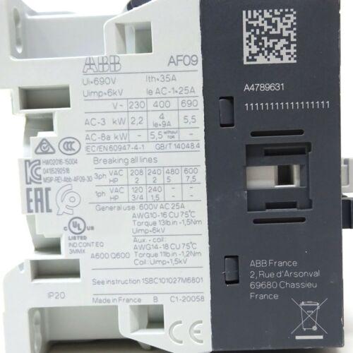 Contactor AF09-30-10-11 ABB 4kW 24VAC//DC 1NO 1SBL137001R1110