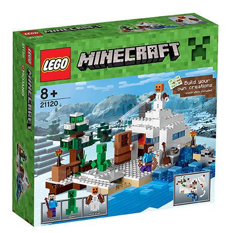 LEGO 21120, Minecraft il nascondiglio nella neve, prodotto NUOVO-SIGILLATO-mattoncini