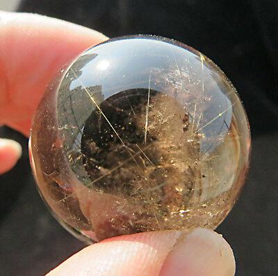 Perfect !! golden rutilated !! rainbow natural clear quartz