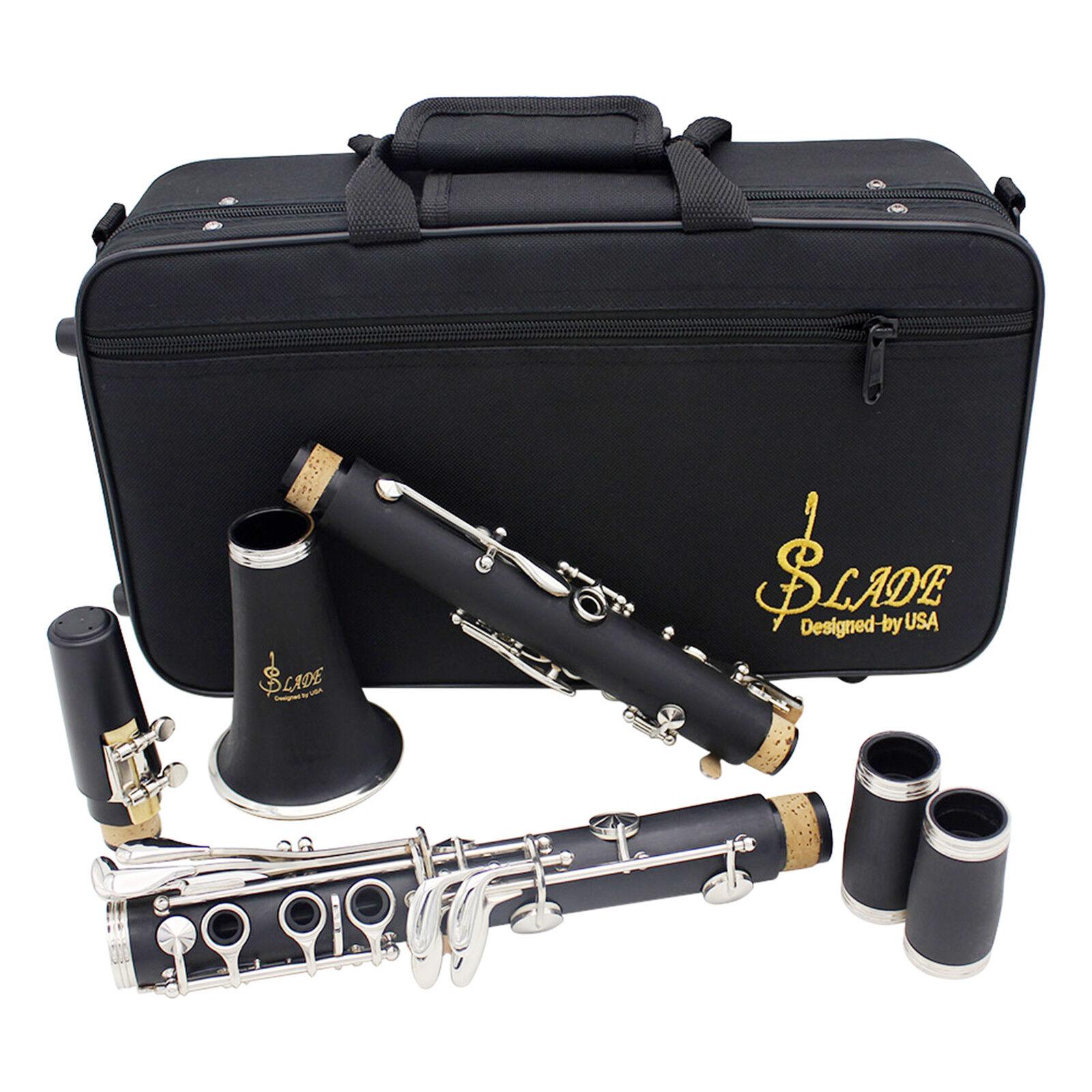 Profesional De Baquelita Negra 17 17 17 llave Clarinete Bb Y Estuche & Kit De Cuidado Y Garantía d0ba73