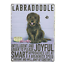 BROWN LABRADOODLE VINTAGE RETRO 20 CM STYLE METAL HANGING SIGN BREED CHARACTER
