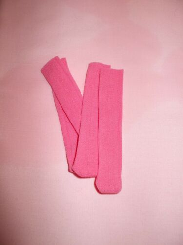 "3 PR NYLON BRIGHT PINK SOCKS for 7-9/"" Dolls"