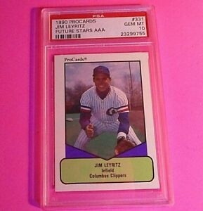 1990 ProCards Future Stars AAA #331 JIM LEYRITZ Rookie PSA 10 GEM MINT POP 2!