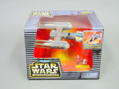 Star Wars Action Fleet Micro Machines y-wing Star Fighter Gold Leader /& R2 #e2