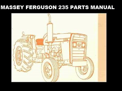 MASSEY FERGUSON MF 235 PARTS MANUAL 360pgs for MF235 Tractor Repair &  Service | eBayeBay
