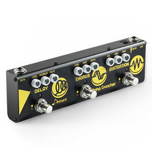 Donner-Alpha-Cruncher-3-Type-Effects-Delay-Chorus-Distortion-Pedal-with-Adapter