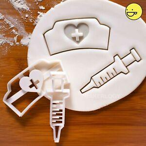 Set-of-2-Syringe-Nurse-Hat-cookie-cutter-nurses-day-florence-nightingale