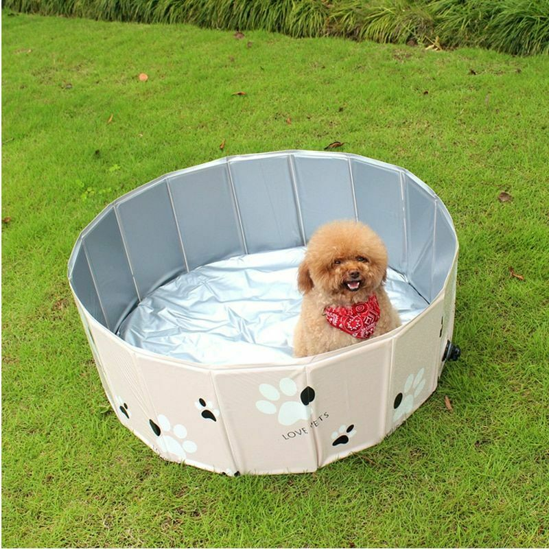 Pet Swimming Pool Collapsible Foldable Inflatable Outdoor Summer Bathing Tub