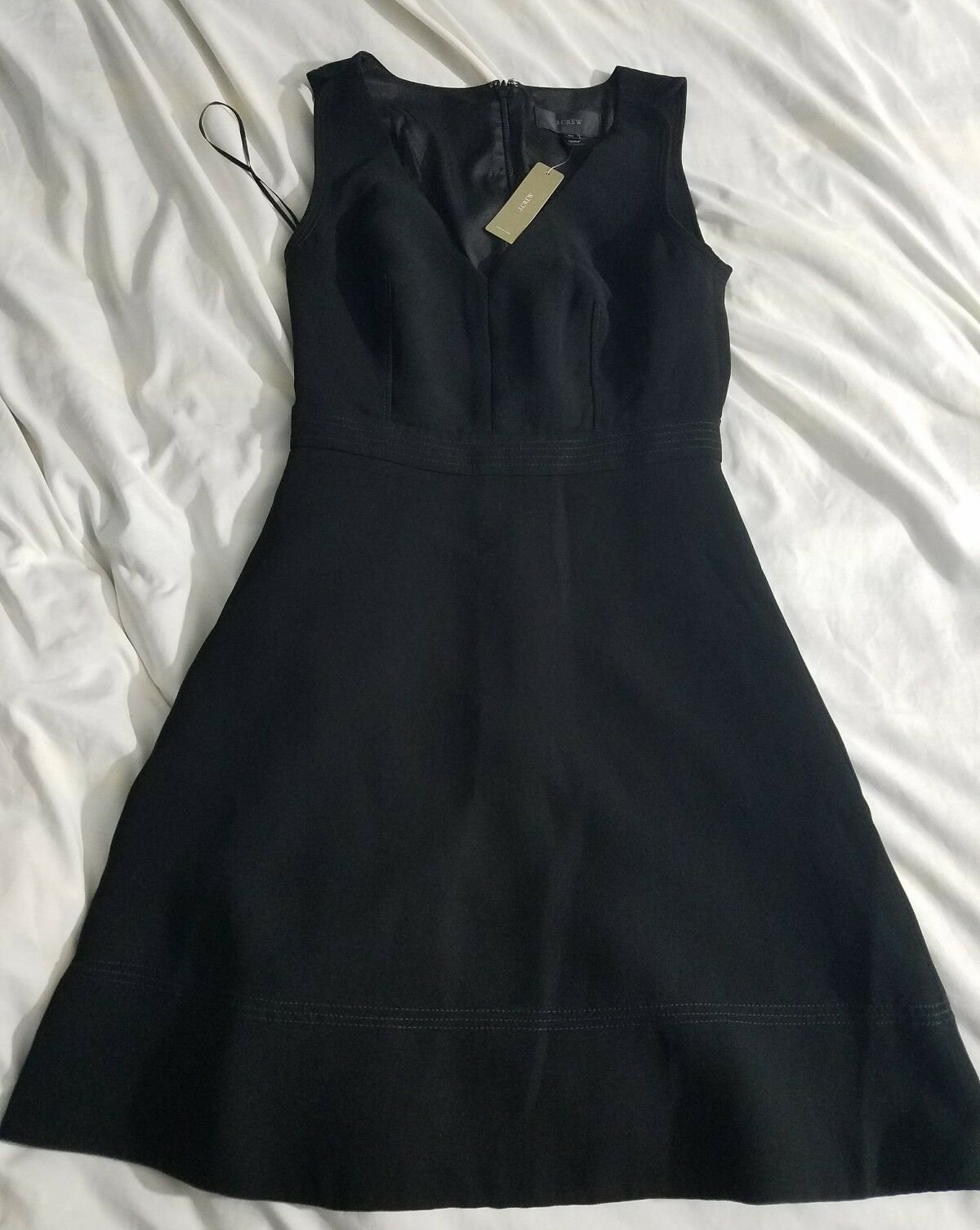 NWT J.CREW V-neck A-line dress e0068 00  schwarz suiting office work party