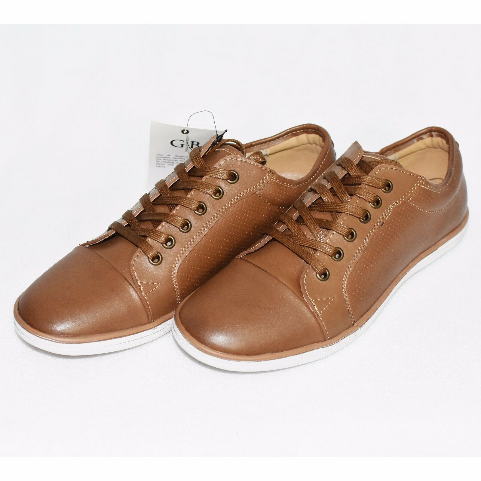 Geoffrey Beene Smart Williamsburg Brown Leather Sneaker Smart Beene Casual Size 8 AU c3d23d