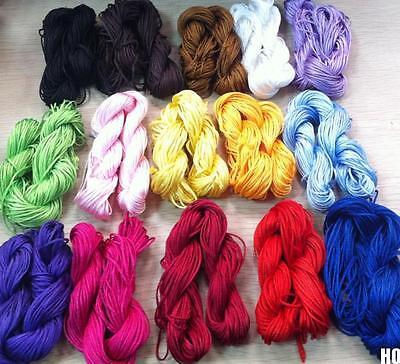 HO AU 1mm Nylon Chinese Knot Cord Macrame Rattail Braided Jewelry Thread String