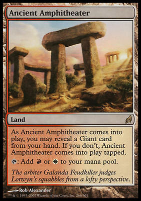 Rare Land MTG: Ancient Amphitheater Lorwyn Magic Card LOR