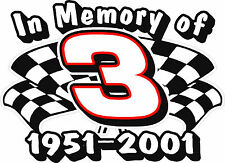 NEW FOR 2020 In Memory of Dale Earnhardt Sr Decal Sticker - XS thru XL