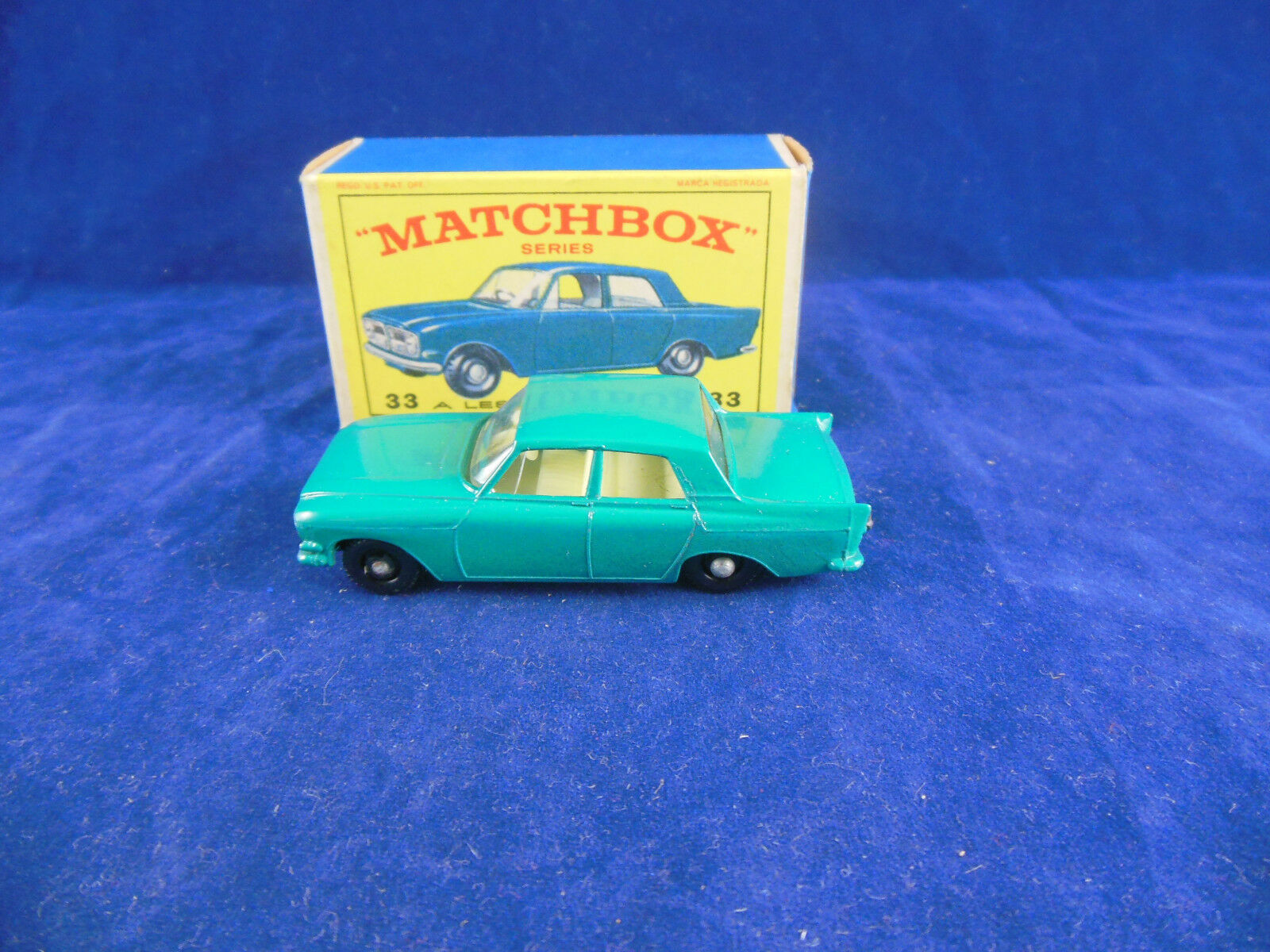 MATCHBOX REGULAR WHEELS Nº 33 FORD ZEPHYR 6 in (environ 15.24 cm) Dark Turquoise Corps