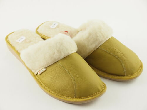 Womens Ladies Slipper Mules Leather Sheep/'s Wool Clogs