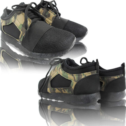 Womens LADIES LACE UP BALI TRAINERS PUMPS SNEAKERS GYM SPORTS CAMOUFLAGE  SIZE