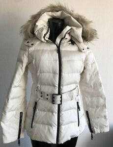 Fell Np S Ivory Echte ❤ Offwhite Gürtel Zara Women Stepp Federn Jacke 36 109€ uTlK1c3FJ