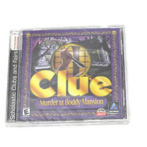Clue-Murder-at-Boddy-Mansion-PC-Game-Hasbro-Rated-E-Cd-ROM-Windows-95-98-NEW