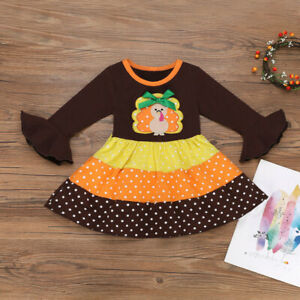 Toddler-Kids-Baby-Girl-Thanksgiving-Cartoon-Splice-Flare-Long-Sleeve-Tutu-Dress