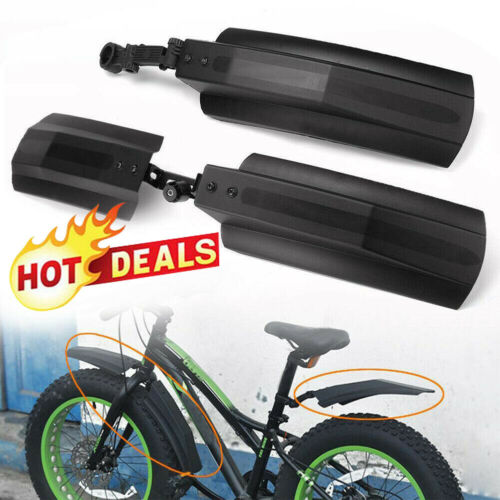 "Bicycle Bike Front Rear Mudguard Cycling Bike Fender For 20//26/"" Tire Fat S2N3"