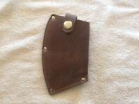 Leather Axe Sheath, Guard, Full Size Axe ,3 1/2 Lb Axe