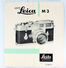 Original Leica Sales Brochure for M3 - printed October 1957 - 8 pages