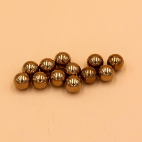 H62 Solid Balls Loose Bearing Balls High Precision 12mm 50PCS Brass