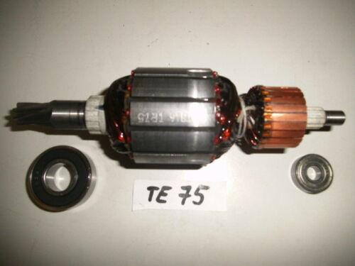 Hilti TE 75 Rotor Anker mit beiden Lagern vom Rotor !!!