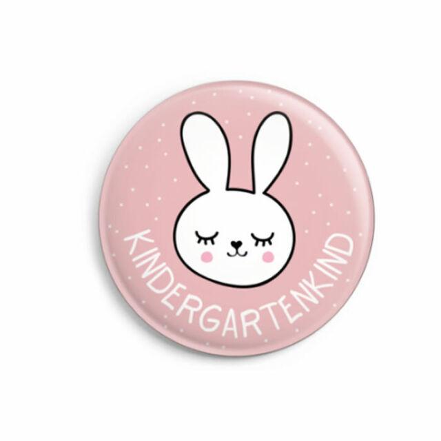 Button Kindergartenkind Hase Mit Karte Geschenk Mädchen 1 Kita Tag Neu