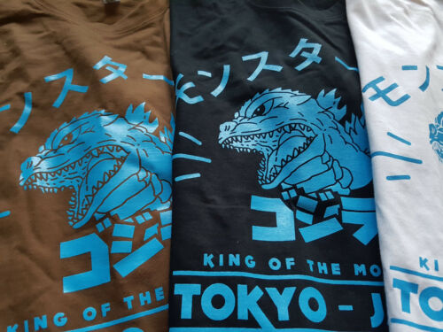 Gojira Blu Godzilla Nippon Tokyo Kanji Kaiju Giappone ray Collegejacke M4 Premium C1wCvZq