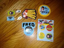 Huge FRED Lot key chain(2) & sticker(3) & button(4) LOT Sour Pickle -I need Meds