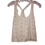House-of-Harlow-Women-039-s-Small-Cropped-Cami-Shirt-Sleeveless-White-Eyelet-Tops-S miniature 1