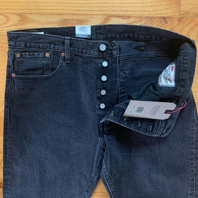 """Levis Justin Timberlake frische Blätter Herren 38x32 """"501 Slim Taper Jeans"""" NEW $98"""