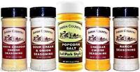Amish Country Popcorn Seasonings Gourmet Seasoning Sampler Plus Ballpark Salt