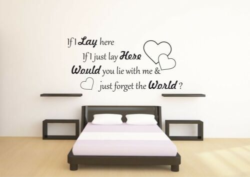 If I Lie Here Wall Quote Decal Sticker Funny Vinyl Wall Art Mural