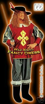 FANCY DRESS COSTUME = XL DELUXE MUSKATEER MEDIEVAL