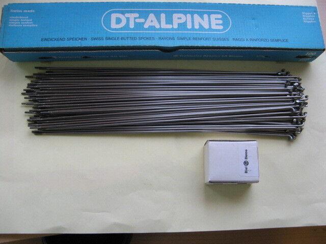 100 Speichen DT SWISS ALPINE  2,3 X2,0 silver 300 mm lang mit Nippel OVP NEU